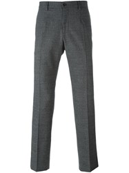 Dolce And Gabbana Stripe Effect Trousers Grey