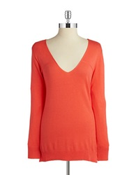 Splendid Knit V Neck Sweater Blaze