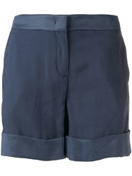 Lorena Antoniazzi Slim Fit Tailored Shorts Blue