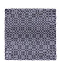 Harrods Of London Birdseye Silk Handkerchief Unisex Navy