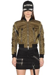 Dsquared Military Nylon Bomber Jacket