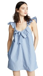 Riller And Fount Evelyn Tie Front Mini Dress Bleu