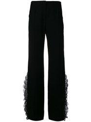 Alberta Ferretti High Waisted Flare Trousers Black