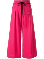 Loveless High Waisted Trousers Pink