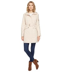Vince Camuto Hooded And Belted Trench Blossom Women's Coat Pink