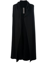 Rick Owens Sleeveless Cardi Coat Black
