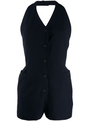 Jean Paul Gaultier Pre Owned 1991 V Back Playsuit Blue
