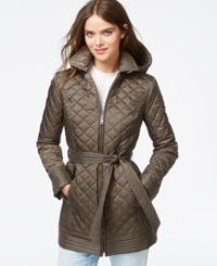 Laundry By Design Hooded Belted Quilted Jacket