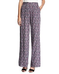 Bcbgeneration High Rise Floral Print Pants Red Pattern
