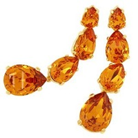A Z Collection Tangerine Dangle Earrings Orange