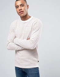 Only And Sons Long Sleeve Top In Bretton Cotton Stripe Robus Tea Red