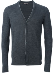 Michael Kors V Neck Cardigan Grey