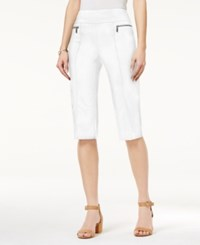 Style And Co Petite Pull On Capri Pants Only At Macy's Bright White