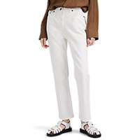 The Row Charlee Straight Jeans White