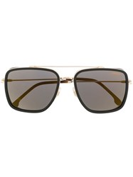 Carrera Square Shaped Sunglasses Gold