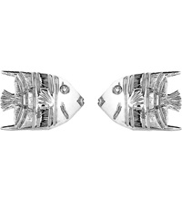 Theo Fennell 18Ct White Gold Angel Fish Stud Earrings
