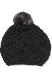 Karl Donoghue Cable Knit Wool Beanie Black