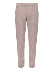 Valentino Micro Hound's Tooth Mid Rise Trousers