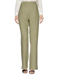 La Fabbrica Del Lino Casual Pants Military Green
