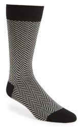 Ted Baker London Ronimow Herringbone Socks Black