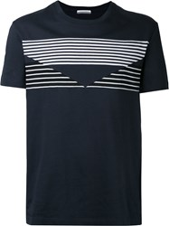 Andrea Pompilio Graphic Detail T Shirt Men Cotton 50 Blue