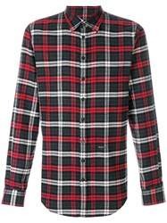 Dsquared2 Checked Button Shirt Black