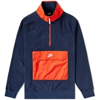 Nike Fleece Winter Half Zip Sweat Blue