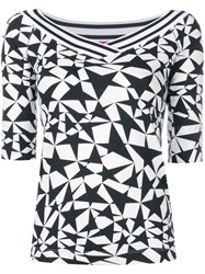Marc Cain Star Print Knitted Top Black