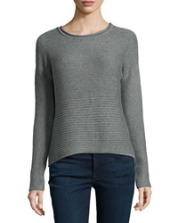 Catherine Malandrino Indigo Chunky Long Sleeve Sweater Heather Gray