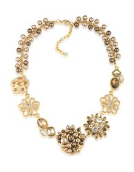 Carolee Flower Necklace Gold