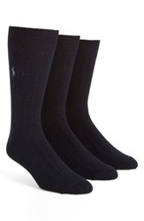 Polo Ralph Lauren Men's 3 Pack Crew Socks Navy