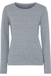 Majestic Filatures Woman Marled Cotton Cashmere And Silk Blend Sweater Blue