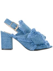 N 21 No21 Denim Sandals Blue