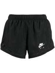 Nike Logo Print Running Shorts Black