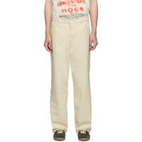 Our Legacy Off White Carpenter Trousers