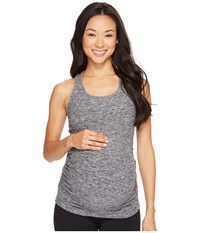 Beyond Yoga Maternity Racerback Cami Black White Space Dye Women's Sleeveless Gray