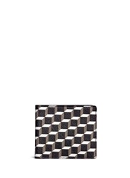 Pierre Hardy 'Perspective Cube' Print Bifold Wallet Multi Colour