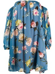Semicouture Floral Print Off The Shoulder Dress 60