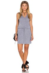 Lanston V Neck Racerback Dress Gray