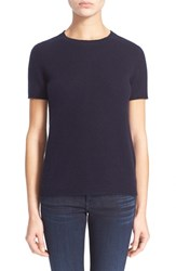 Women's Theory 'Tolleree B' Short Sleeve Cashmere Sweater Jet Navy