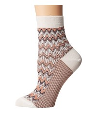 Missoni Ankle Socks Champagne Women's Crew Cut Socks Shoes Gold