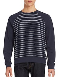 Ag Adriano Goldschmied Striped Long Sleeve Pullover Night