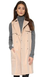 Bcbgmaxazria Lenard Sleeveless Trench Light Straw