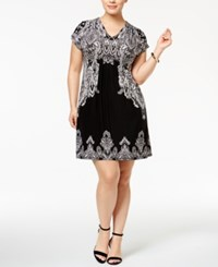 Inc International Concepts Plus Size Dolman Sleeve Sheath Dress Only At Macy's Placed Paisley