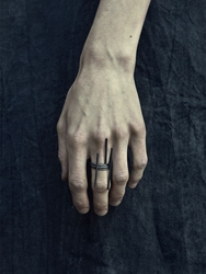 Murky Set Of 3 Oxidized Silver Rings