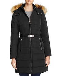 Kate Spade New York Bow Buckle Belted Down Coat Black