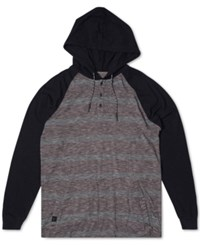 Rip Curl Men's Colorblocked Striped Hoodie Blk