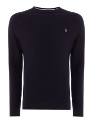 Original Penguin Men's Link Stitch Crew Neck Jumper Navy