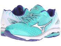 Mizuno Wave Rider 19 Atlantis Silver Clematis Blue Women's Running Shoes