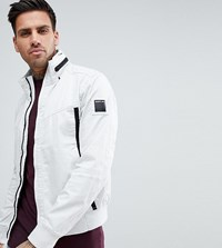 Replay Lightweight Taped Jacket In White White 563
